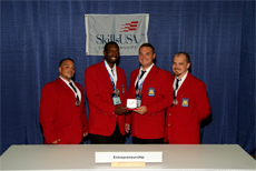 Cedanio Bacon SkillsUSA Champion place second in the nation in Entrepreneurship SkillsUSA 2010